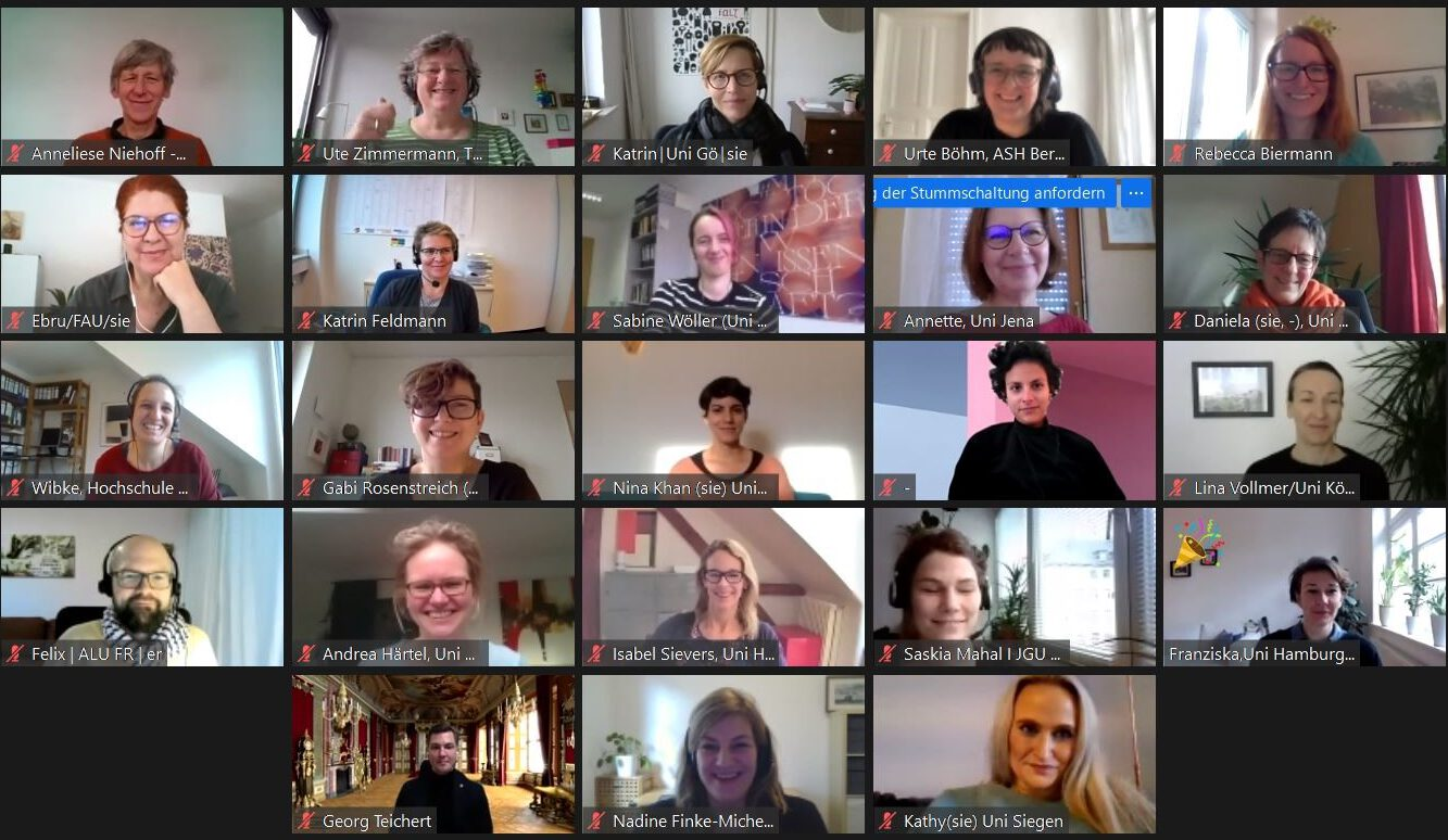 Screenshot der Webkonferenz